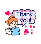 英語で伝えよう!ありがとう&感謝の気持ち(個別スタンプ:01)