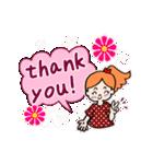英語で伝えよう!ありがとう&感謝の気持ち(個別スタンプ:02)