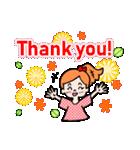 英語で伝えよう!ありがとう&感謝の気持ち(個別スタンプ:03)