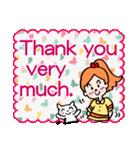 英語で伝えよう!ありがとう&感謝の気持ち(個別スタンプ:06)