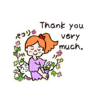 英語で伝えよう!ありがとう&感謝の気持ち(個別スタンプ:07)