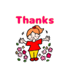 英語で伝えよう!ありがとう&感謝の気持ち(個別スタンプ:09)