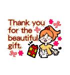 英語で伝えよう!ありがとう&感謝の気持ち(個別スタンプ:15)