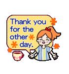 英語で伝えよう!ありがとう&感謝の気持ち(個別スタンプ:24)