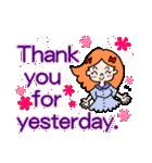 英語で伝えよう!ありがとう&感謝の気持ち(個別スタンプ:25)