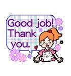 英語で伝えよう!ありがとう&感謝の気持ち(個別スタンプ:26)