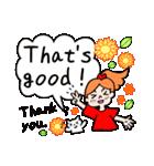 英語で伝えよう!ありがとう&感謝の気持ち(個別スタンプ:34)