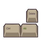 PCキーボード(英語の略語)(個別スタンプ:13)