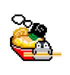 ドット絵 腹ペコペンギン(個別スタンプ:01)
