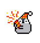 ドット絵 腹ペコペンギン(個別スタンプ:35)
