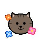 かわいいキジトラ猫の顔(個別スタンプ:08)