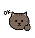 かわいいキジトラ猫の顔(個別スタンプ:10)