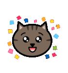 かわいいキジトラ猫の顔(個別スタンプ:13)