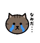 かわいいキジトラ猫の顔(個別スタンプ:18)