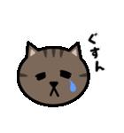 かわいいキジトラ猫の顔(個別スタンプ:19)