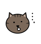 かわいいキジトラ猫の顔(個別スタンプ:26)