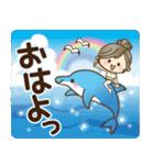 ナチュラルガール【夏の気づかい言葉】(個別スタンプ:01)