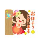 動く♪オリオリ☆フラガールズ(個別スタンプ:3)