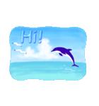 イルカと水滴文字(日本語版)(個別スタンプ:5)