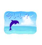 イルカと水滴文字(日本語版)(個別スタンプ:8)