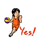 バスケットボールプレーヤー(個別スタンプ:01)