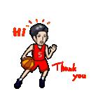 バスケットボールプレーヤー(個別スタンプ:02)