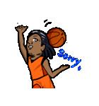バスケットボールプレーヤー(個別スタンプ:07)