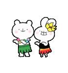 ゆる×ラブ♡うさっくま+4=夏(個別スタンプ:01)