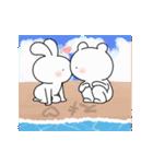 ゆる×ラブ♡うさっくま+4=夏(個別スタンプ:12)