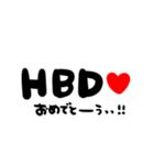 大切な人に贈る♡誕生日♡お祝いの言葉(個別スタンプ:21)