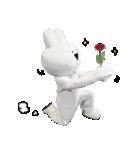 すこぶる動くウサギ【実写版】(個別スタンプ:1)