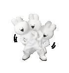 すこぶる動くウサギ【実写版】(個別スタンプ:4)