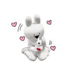 すこぶる動くウサギ【実写版】(個別スタンプ:7)