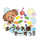 トイプードルの日常【夏♪】(個別スタンプ:6)