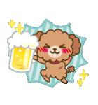 トイプードルの日常【夏♪】(個別スタンプ:7)