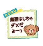 トイプードルの日常【夏♪】(個別スタンプ:8)