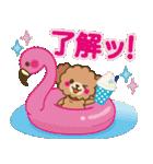 トイプードルの日常【夏♪】(個別スタンプ:10)