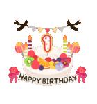 年齢の誕生日お祝いケーキ(1~40歳)(個別スタンプ:01)