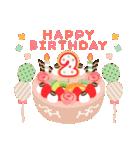 年齢の誕生日お祝いケーキ(1~40歳)(個別スタンプ:02)