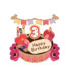 年齢の誕生日お祝いケーキ(1~40歳)(個別スタンプ:03)