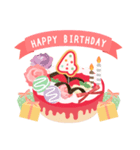年齢の誕生日お祝いケーキ(1~40歳)(個別スタンプ:04)