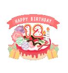 年齢の誕生日お祝いケーキ(1~40歳)(個別スタンプ:12)