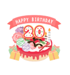 年齢の誕生日お祝いケーキ(1~40歳)(個別スタンプ:20)