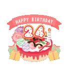 年齢の誕生日お祝いケーキ(1~40歳)(個別スタンプ:24)