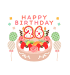 年齢の誕生日お祝いケーキ(1~40歳)(個別スタンプ:26)