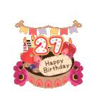 年齢の誕生日お祝いケーキ(1~40歳)(個別スタンプ:27)