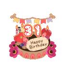 年齢の誕生日お祝いケーキ(1~40歳)(個別スタンプ:31)
