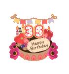 年齢の誕生日お祝いケーキ(1~40歳)(個別スタンプ:35)