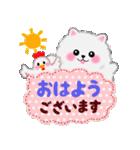 吹き出しポメラニアンぽちゃん(個別スタンプ:01)