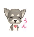 3D チワワフレンズ(2)(毎日使える)(個別スタンプ:9)